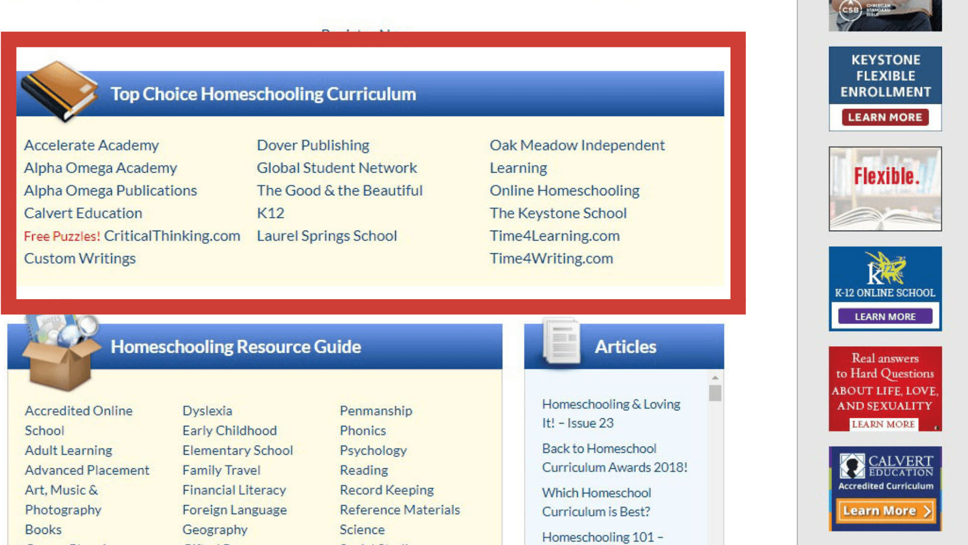 Text Listing   Homeschool Connect
